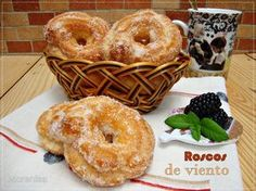Gourmet Recipes, Mexican Food Recipes, Sweet Recipes, Dessert Recipes, Pan Dulce, Muffins, Quiches, Croissants, Donuts