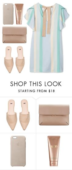 """""""Nude"""" by izabellmaya ❤ liked on Polyvore featuring MANGO, Apple and La Mer"""
