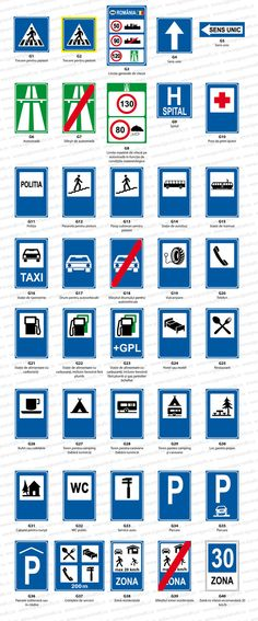 sigeurotrafic-indicatoare-rutiere-de-informare Pets, Animals And Pets