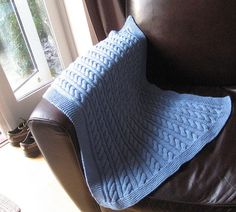 Cable Baby Blanket by AriannaHalshaw, via Flickr