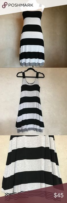 "🎉Anthropologie Bailey 44 EUC worn once dress sz S ANTHROPOLOGIE BAILEY 44 LAYERED DRESS!!! Sz -Small Worn once! Super-soft and flowy at the bottom with a rawish mini-stripe hem that contrasts spectacularly with the bold stripes on the body of the dress. The mini stripe fabric also peeks out at the shoulder straps for a cute detail. This dress is fully lined and high quality! Measured lying flat: bust 15"", outer shoulder to outer shoulder straps 11.5"", length from shoulder to hem 37"", length…"