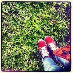 #Red #Shoes #Jean