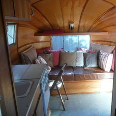 I believe this is a restored Airstream Cruisette.  They only paneled the first 25 of the 75 made.  Ours has the original panels that we will restore/replace.
