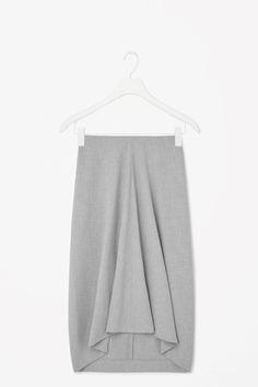 Draped melange skirt