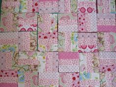 Flossie Teacakes: Tutorial: How to make a patchwork quilt Beginner Quilt Patterns Free, Quilting For Beginners, Quilting Tutorials, Quilting Ideas, Fabric Crafts, Sewing Crafts, Sewing Projects, Sewing Ideas, Quilt Making