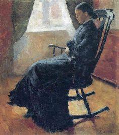 Sallanan Sandalyede Karen Bjolstad, 1883, Munch Museum, Oslo, Norveç.