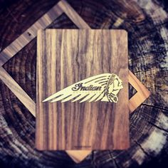 Walnut iPad case for Indian Motorcycle  #WOODCHUCK #ipadcase #ipad #apple #wood #motorcycle #DIY