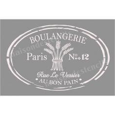 Boulangerie Label 20x30 Stencil