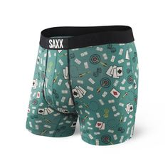 29c9c428bb95 Saxx Ultra Boxers - Green Bar Sports