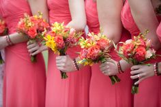 Guava Dresses and Orchids in November Made the Day seem Tropical!