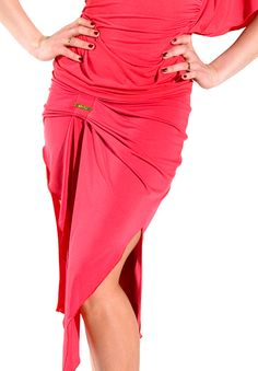 Maly Ruched Latin Skirt MF131502| Dancesport Fashion @ DanceShopper.com