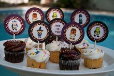 Halloween Party Cupcake Toppers Mini Spooky by Bellezaeluce, $9.00
