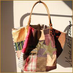 cabas de créatrice en patchwork et d'autres cabas sur www.musedeprovence.com