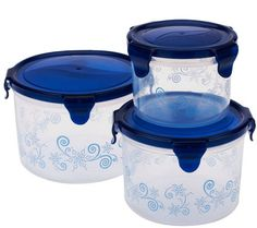 Temp-tations 3-piece Holiday Canister Storage Set