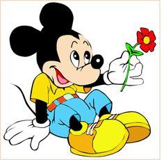 love is... cartoons   Mickey Mouse Love sticker - Comics & Cartoons - FunBumperStickers.com ...