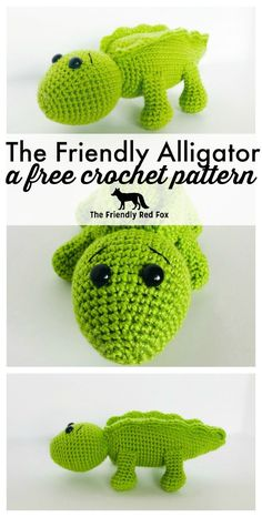 24 Inspired Picture of Crochet Alligator Pattern Free . Crochet Alligator Pattern Free Crochet Alligator Pattern Alligators Amigurumi And Crochet Dragon En Crochet, Crochet Dinosaur, Crochet Animal Amigurumi, Crochet Animal Patterns, Stuffed Animal Patterns, Amigurumi Patterns, Stuffed Animals, Hat Patterns, Crochet Animals