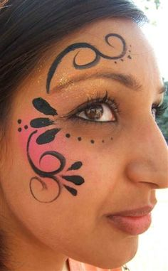 Simple face painting designs are not hard. Many people think that in order to have a great face painting creation, they have to use complex designs, rather then simple face painting designs. Easy Face Painting Designs, Face Painting Tutorials, Simple Face Painting, Face Painting Butterfly Easy, Painting Patterns, Adult Face Painting, Body Painting, Image Painting, Tinta Facial