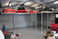 ETS Garage - Storage - shed plans - Garage Workshop Garage Loft, Garage Shop, Garage Workshop, Dream Garage, Car Garage, Diy Garage Storage, Garage Organization, Built In Storage, Storage Racks