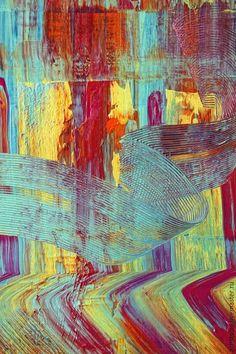 Абстракция ручной работы. Ярмарка Мастеров - ручная работа. Купить Абстрактная живопись. Glow 77.. Handmade. Разноцветный, Живопись