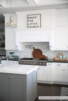 Gray Kitchen White Cabinets kitchen source list & budget breakdown | white subway tile