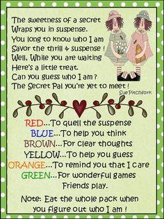 Hi, secret pal [#1393218] Hi, secret pal! | Secret Sister Ideas ...