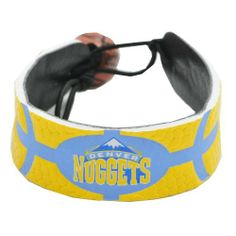 Denver Nuggets Team Color Basketball Bracelet by Gamewear, Inc.. $14.85. Show off your favorite team by wearing this stylish officially licensed NBA basketball bracelet from GameWear.  Each bracelet is made from authentic basketball leather and is boldly emblazoned with the team logo and colors.   Bracelets are one-size-fits-all and have a unique elastic basketball bead closure.  Available in multiple styles and players!