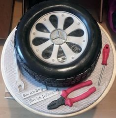 Mercedes car tire Cake - Cake by Sonora