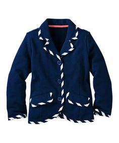 Loving this Navy French Terry Blazer - Infant, Toddler & Girls on #zulily! #zulilyfinds