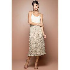 Desert Velvet Crochet Midi Skirt - Vanessa Montoro - vanessamontorolojausa