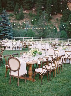 country chic outdoor reception in Sun Valley