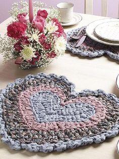 Trapo Crochet Place Mats Individual Mantel Patron descarga ❥Teresa Restegui http://www.pinterest.com/teretegui/❥