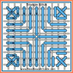 Triangle Stitch #NeedlepointStitch
