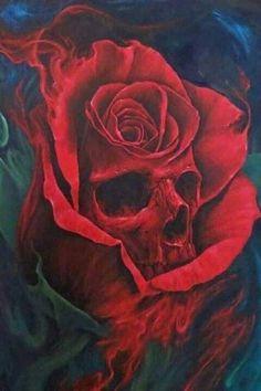 Rose skull ;)                                                                                                                                                      More