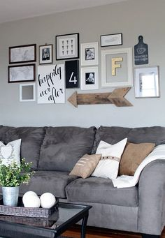 Pattern is one of the indispensable, fundamental building blocks of decor, and your walls are one of the biggest opportunities you have to squeeze in a little more!    --------------  #gallery #wall #home #decor #diy