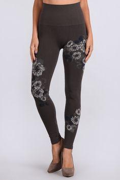 e3da067c7e320 See more. M-Rena Floral Tummy Tuck High Waist Seamless Long Rayon Leggings  Tummy Tucks, Style