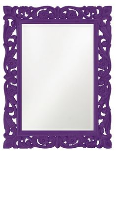 Wall Mirrors, Purple Baroque Bedroom Mirror, great splash of color, one of over 3,000 limited production interior design inspirations inc, furniture, lighting, mirrors, home accents, accessories, decor and gift ideas to enjoy repin and share at InStyle Decor Beverly Hills Hollywood Luxury Home Decor enjoy & happy pinning