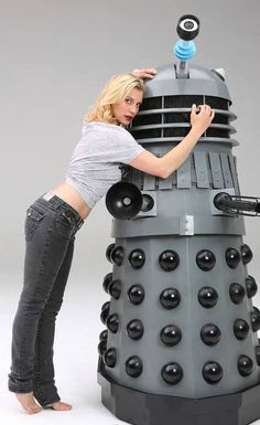 "Katee ""Starbuck"" Sackhoff and a Dalek."