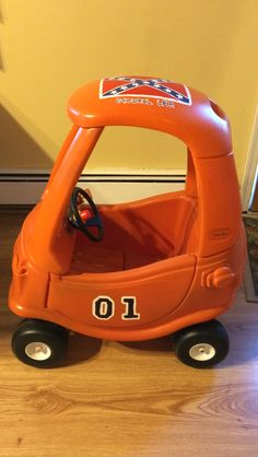 General lee made out of little tikes car. Little Tykes Car, Toddler Toys, Kids Toys, Little Tikes Makeover, Cozy Coupe Makeover, Baby Kids, Baby Boy, Diy Projects To Try, Baby Sewing