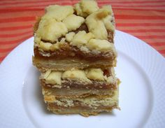 Flavors by Four: Caramel Apple Shortbread Bars