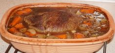 Oksetykkam i Rømertopf - Mors Mad Pot Roast, Crockpot, Meat, Ethnic Recipes, Food, Aluminium Foil, Carne Asada, Roast Beef, Eten