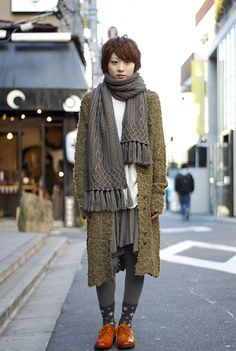 """Tokyo Street Fashion. It's going to be awesome to live in a place where """"frumpy"""" clothing is considered fashionable. I like a little frump in my fashion..."""