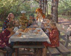 A Visit to Teacher, or, The Teacher's Guests, Nikolay Bogdanov-Belsky