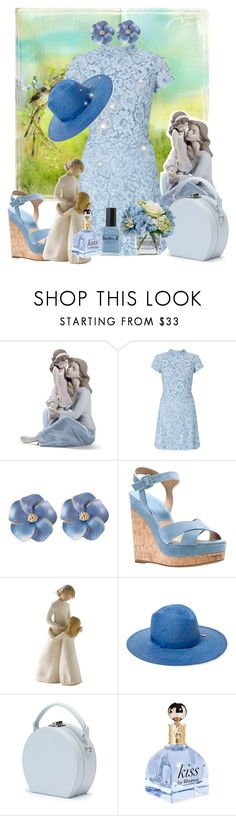 """""""Untitled #5991"""" by princhelle-mack ❤ liked on Polyvore featuring Lladró, Miss Selfridge, Michael Kors, Willow Tree, House of Lafayette, Handle, Lauren B. Beauty and Diane James"""