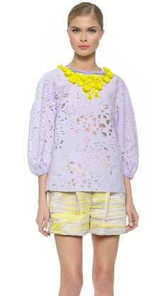 Giambattista Valli Lace Blouse