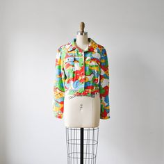 vintage 1960s/1970s mod colorful cropped jacket by RockAndRollVintage, $99.00