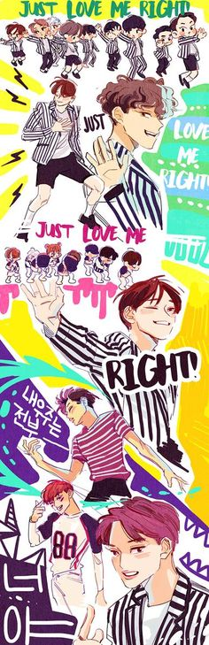 EXO love me right fanart. So cute. I just can't get enough of Chen.