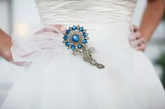 Brooch on a tulle sash, #CCRitzy Rose @Charming CHARLIE