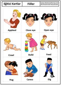 Pin By Sharmilaa On Action Verbs Learning English For Kids, Kids English, English Tips, English Language Learning, English Study, English Lessons, Teaching English, Learn English, English Verbs