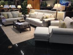 Beige Couch With Nailhead Trim... Gorgeous!! I really want something with the nailhead trim.