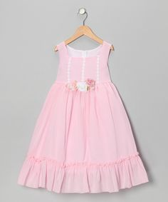 Kid's Dream Pale Pink Flower Ruffle Dress - Infant, Toddler & Girls by Kid's Dream #zulily #zulilyfinds